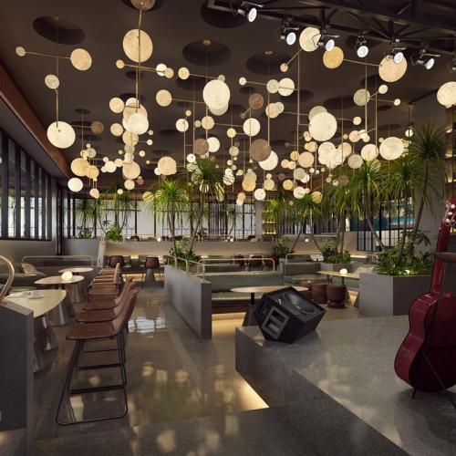 重庆沙坪坝区音乐餐吧装饰设计