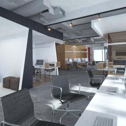 重庆渝北区龙湖源著办公室欧宝体育客户端设计