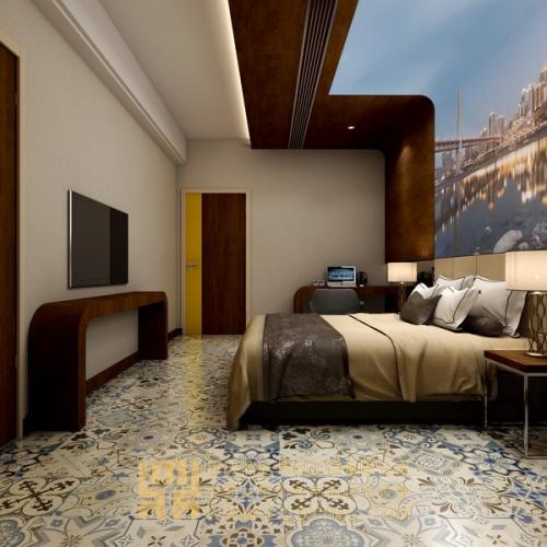 重庆解放碑现代简约风格酒店欧宝体育客户端设计